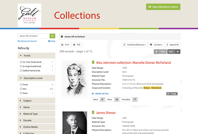 Galt Museum and Archives Collections Search