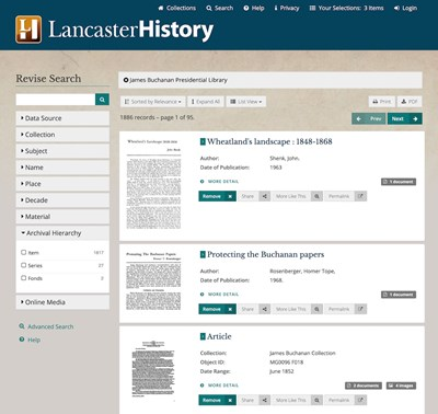 LancasterHistory Research Collections